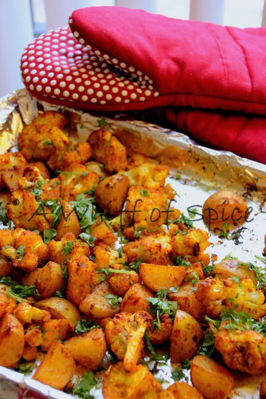 A whiff of spice oven roasted cauliflower and potatoes indian style oven roasted cauliflower and potatoes indian style forumfinder Choice Image
