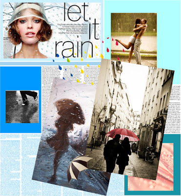 Let it rain collage