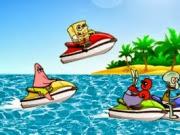 Spongebob Jet Ski   Juegos15.com