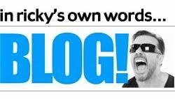 Ricky Gervais' Blog