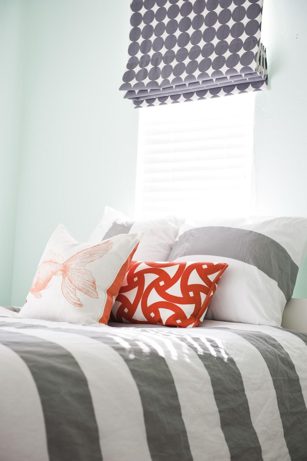 gray orange bedroom before and after house of jade interiors blog. Black Bedroom Furniture Sets. Home Design Ideas