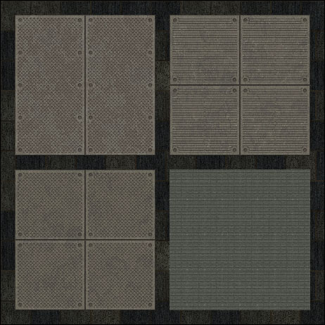 Floor metal plate seamless tiling patterns