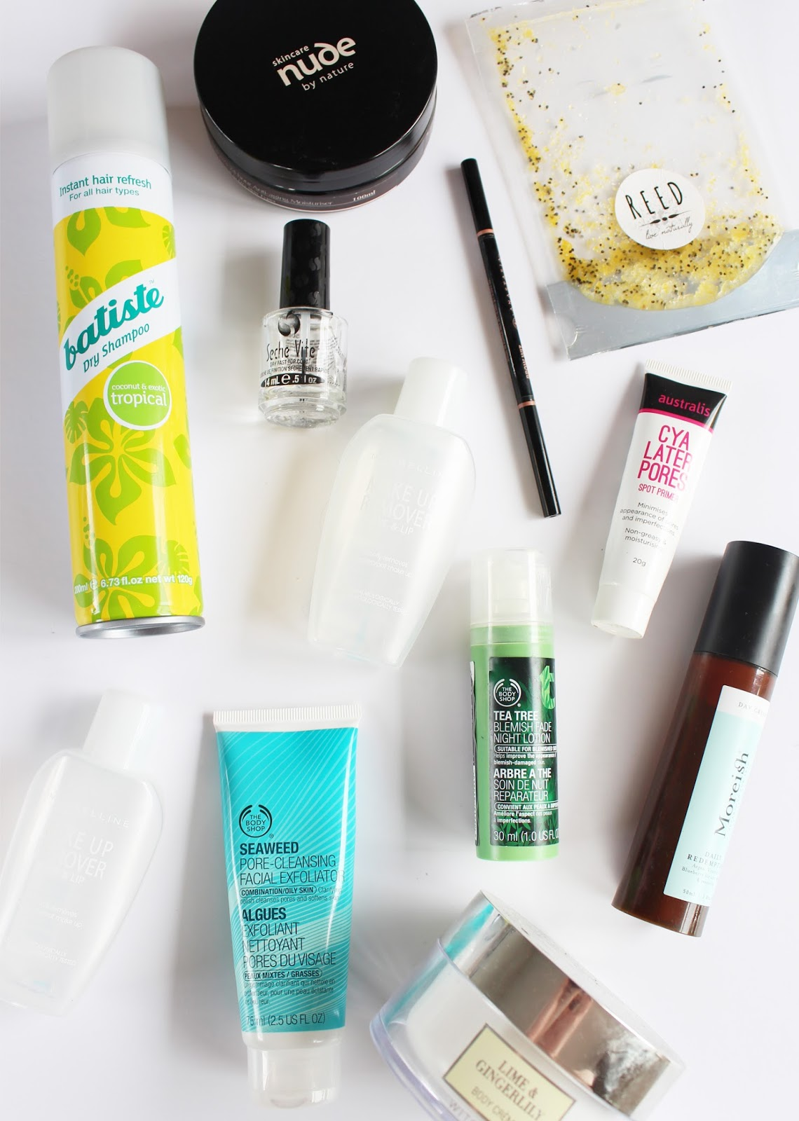 EMPTIES | November '15 - Batiste, Nude By Nature, Seche Vite, Anastasia Beverly Hills, The Body Shop, Reed, Australis, Maybelline, Moreish - CassandraMyee