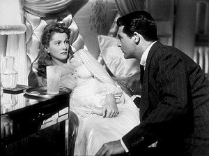 Joan Fontaine y Cary Grant en Sospecha