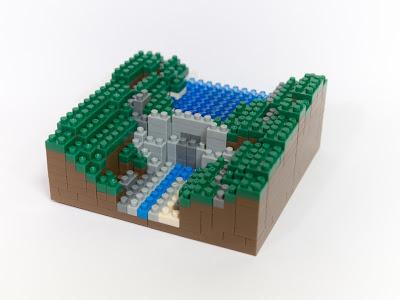 ナノブロックで作ったダム