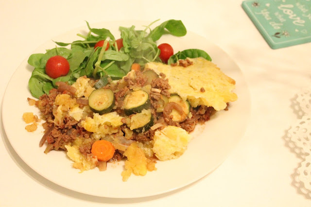 slimming world swede topped cottage pie & salad