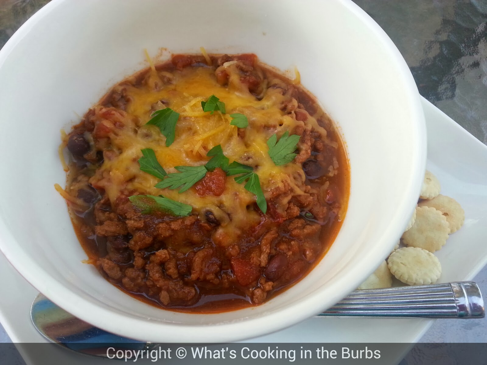 What's Cooking in the Burbs: Crock Pot Root Beer BBQ Chili