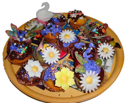 Bricolomamounette party anniversaire cupcakes - Deco pour cupcake ...