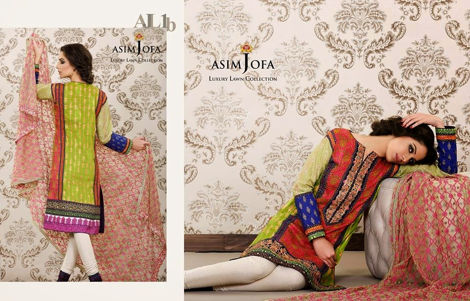 Asim Jofa spring summer 2015 lawn collection