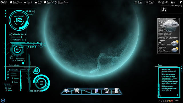Cool awesome rainmeter skin