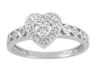 heart rings white gold