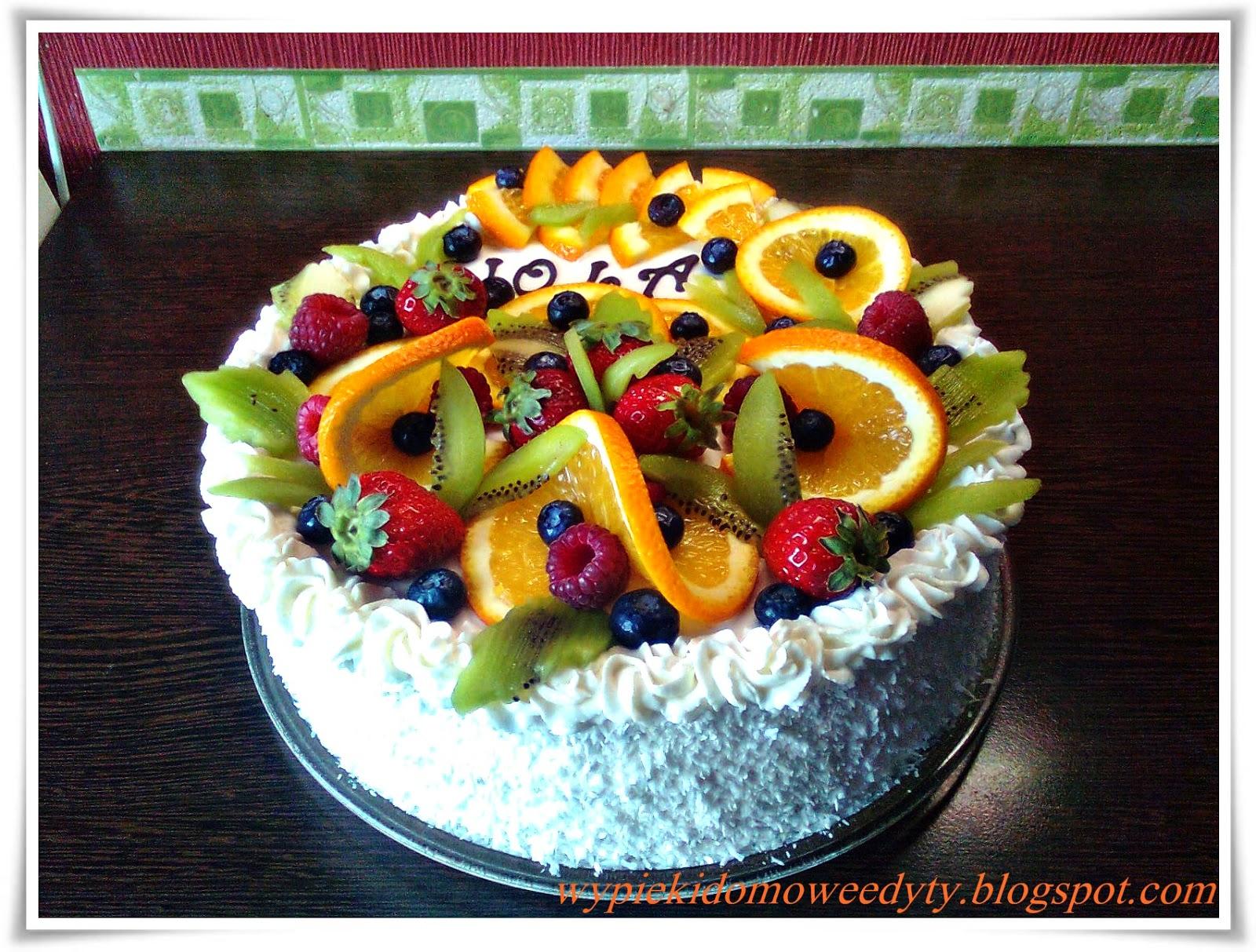 Moje Domowe Wypieki Tort Z Letnimi Owocami