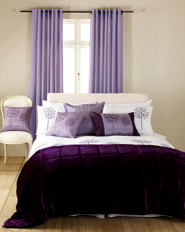 Purple Bedroom Curtain Ideas