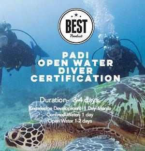 Padi Open Water Diver- Three Days