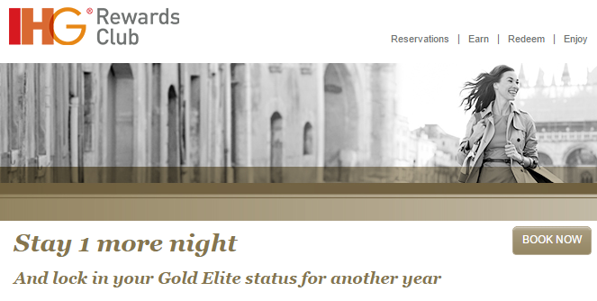 IHG Rewards Club Fast Track to Gold and Platinum