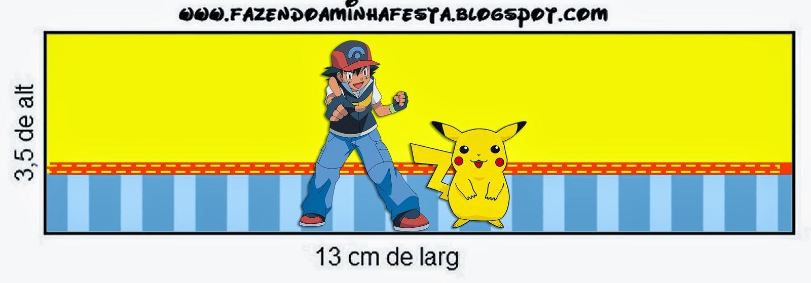 Pokemon: Etiquetas para Candy Bar para Imprimir Gratis. | Oh My ...