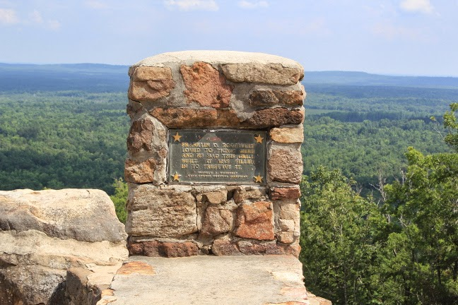 Marker at F. D. Roosevelt State Park in Georgia