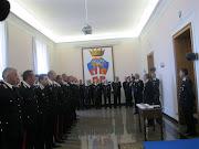 Immagini della premiazione dei Carabinieri che si sono distinti durante il servizio.
