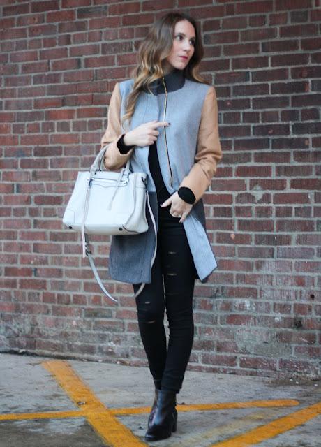 colorblock winter coat