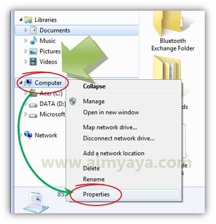 Gambar: Menampilkan properties komputer