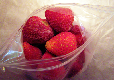 Strawberries in Ziploc Bag