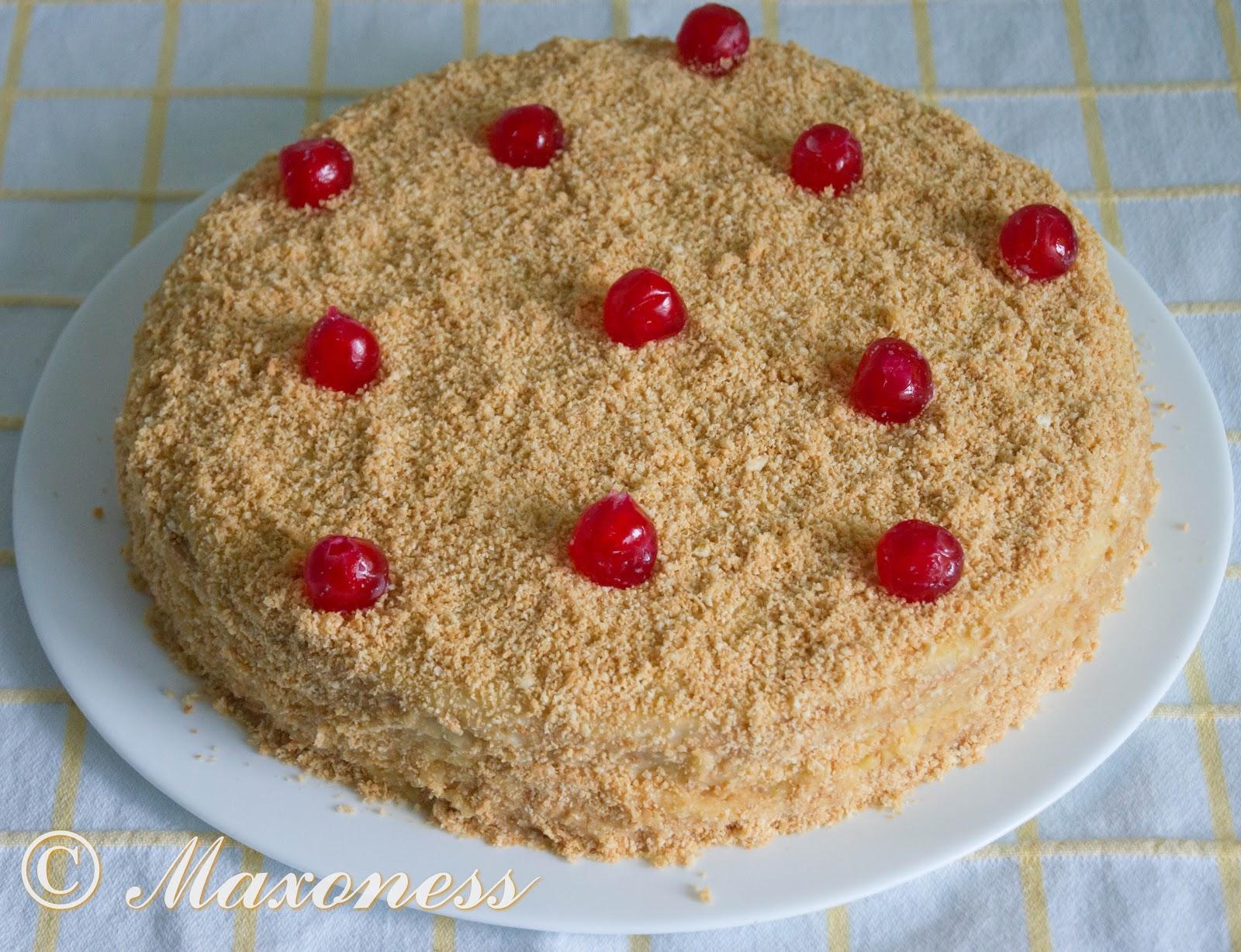 Торт наполеон с фруктами пошаговый рецепт