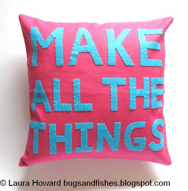 Bugs And Fishes By Lupin Make All The Things Felt Cushion Pillow