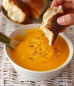 easy, simple, healthy carrot ginger soup recipe