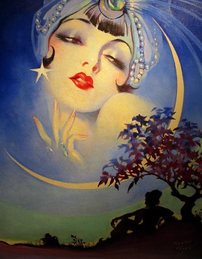 vintage henry clive ziegfeld moon
