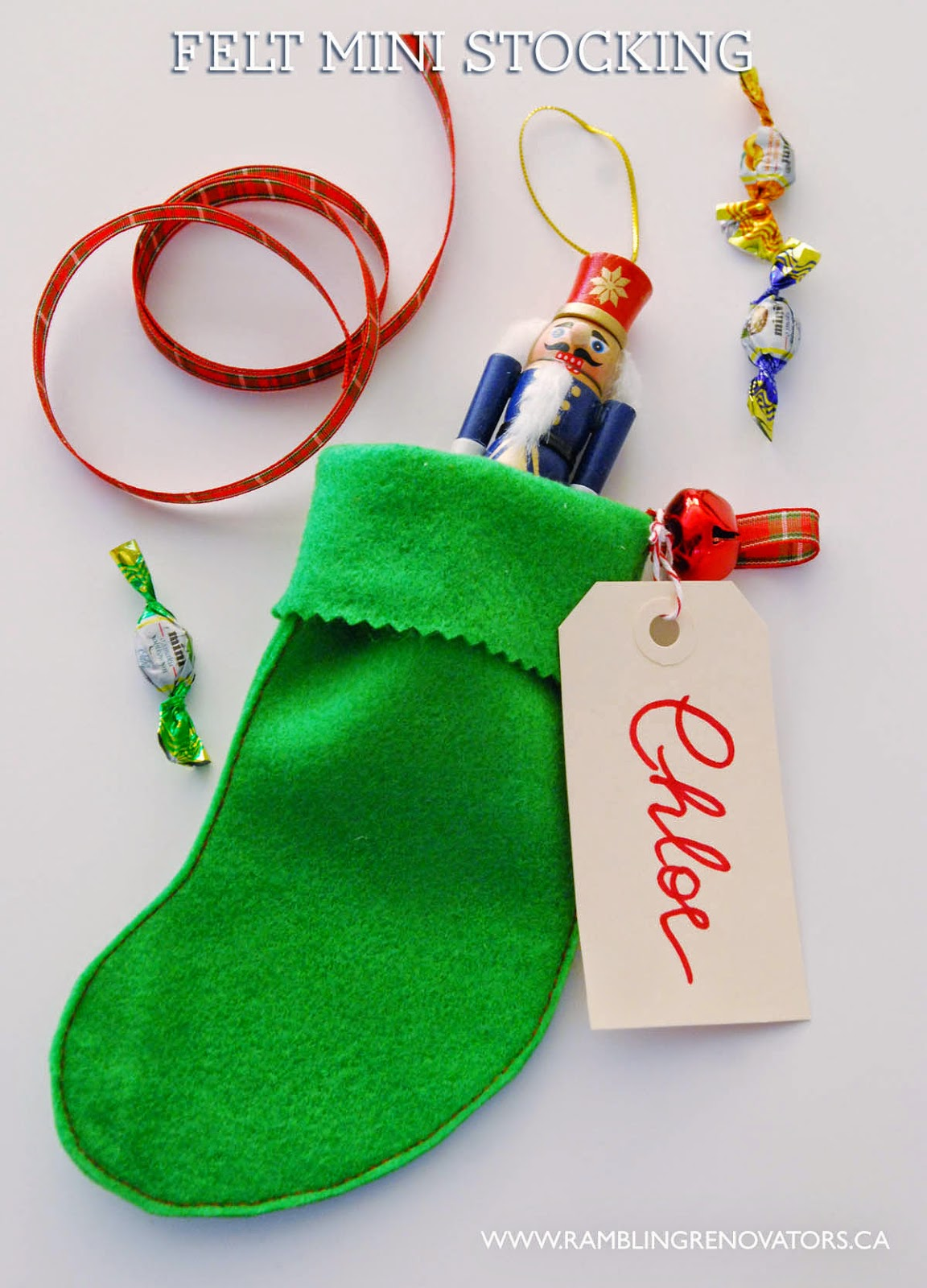 felt mini stocking goodie bag for classmate gifts