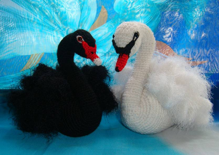 Вязание мастер класс лебедь