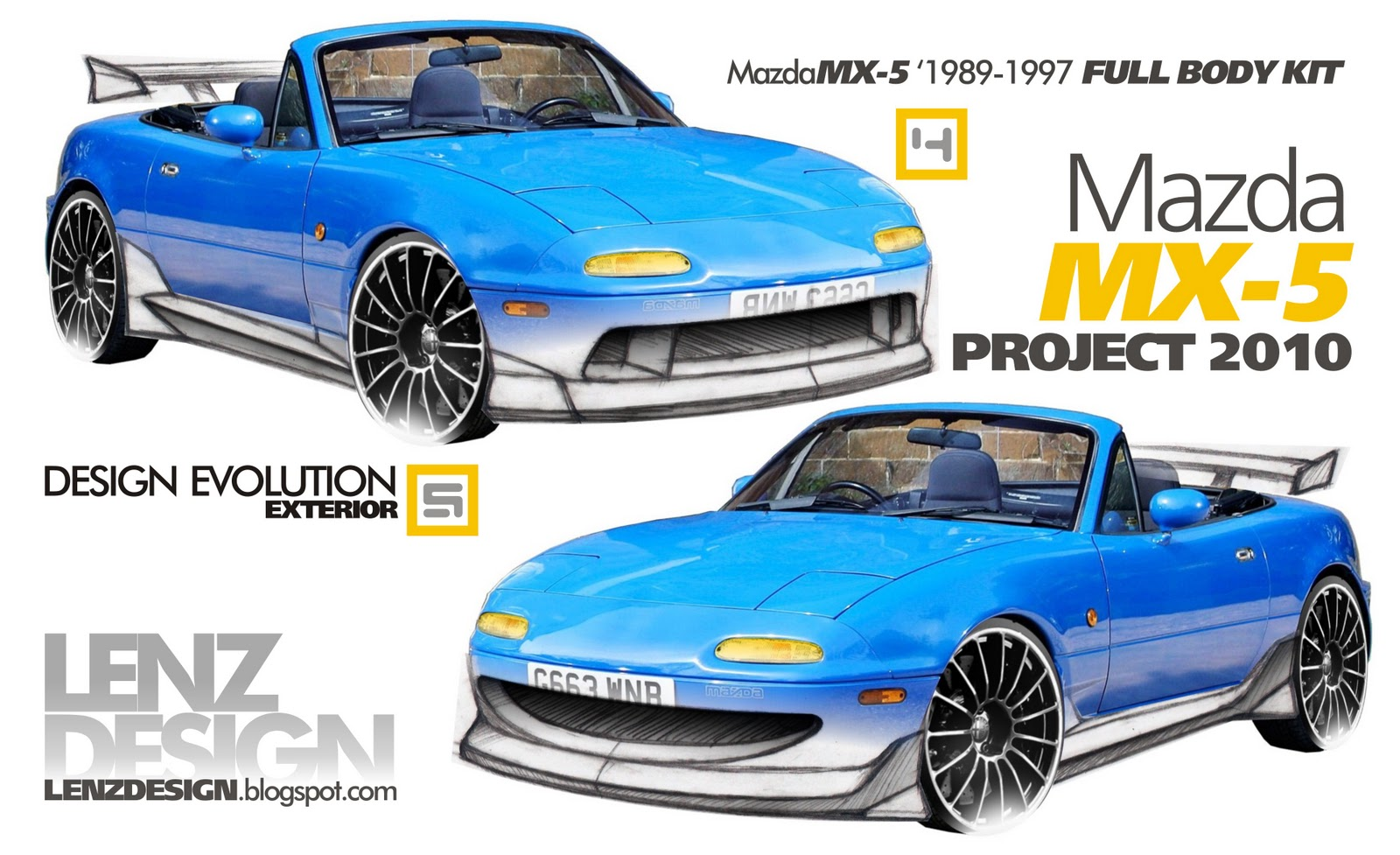 mazda mx 5 tuning project 2010 by lenzdesign. Black Bedroom Furniture Sets. Home Design Ideas