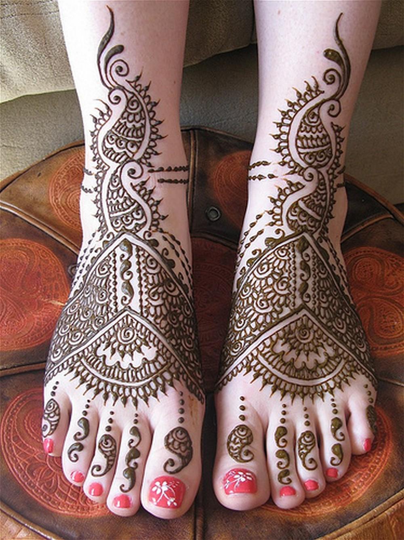 Henna Foot Mehndi Designs For Woman Fashion Khazana