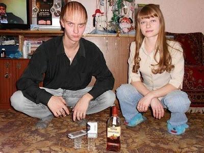 seltsames russisches lifestyle pärchen