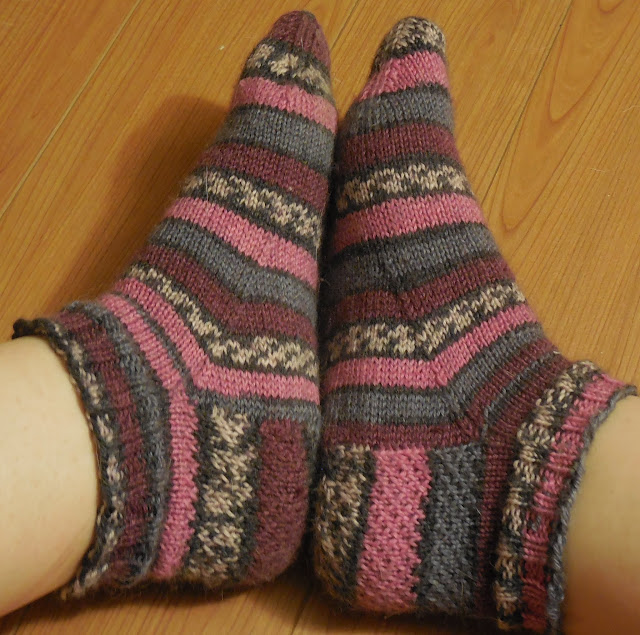 finished knit socks