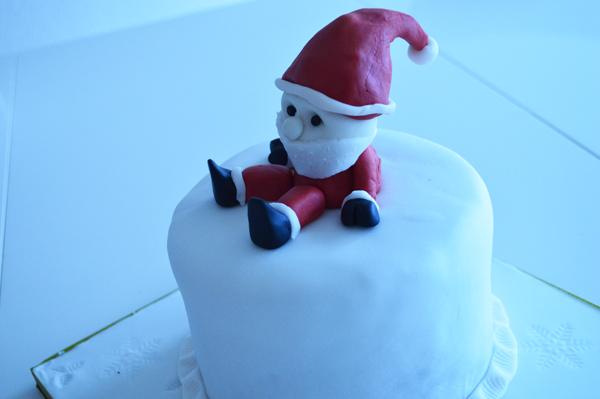 Christmas cake with Santa Claus