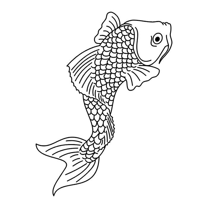 Tattoos fish tattoo stencils for Koi fish stencil