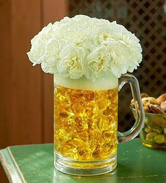 Beer stein vase