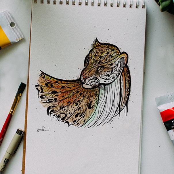 kyson dana alphabet animal illustrations-2