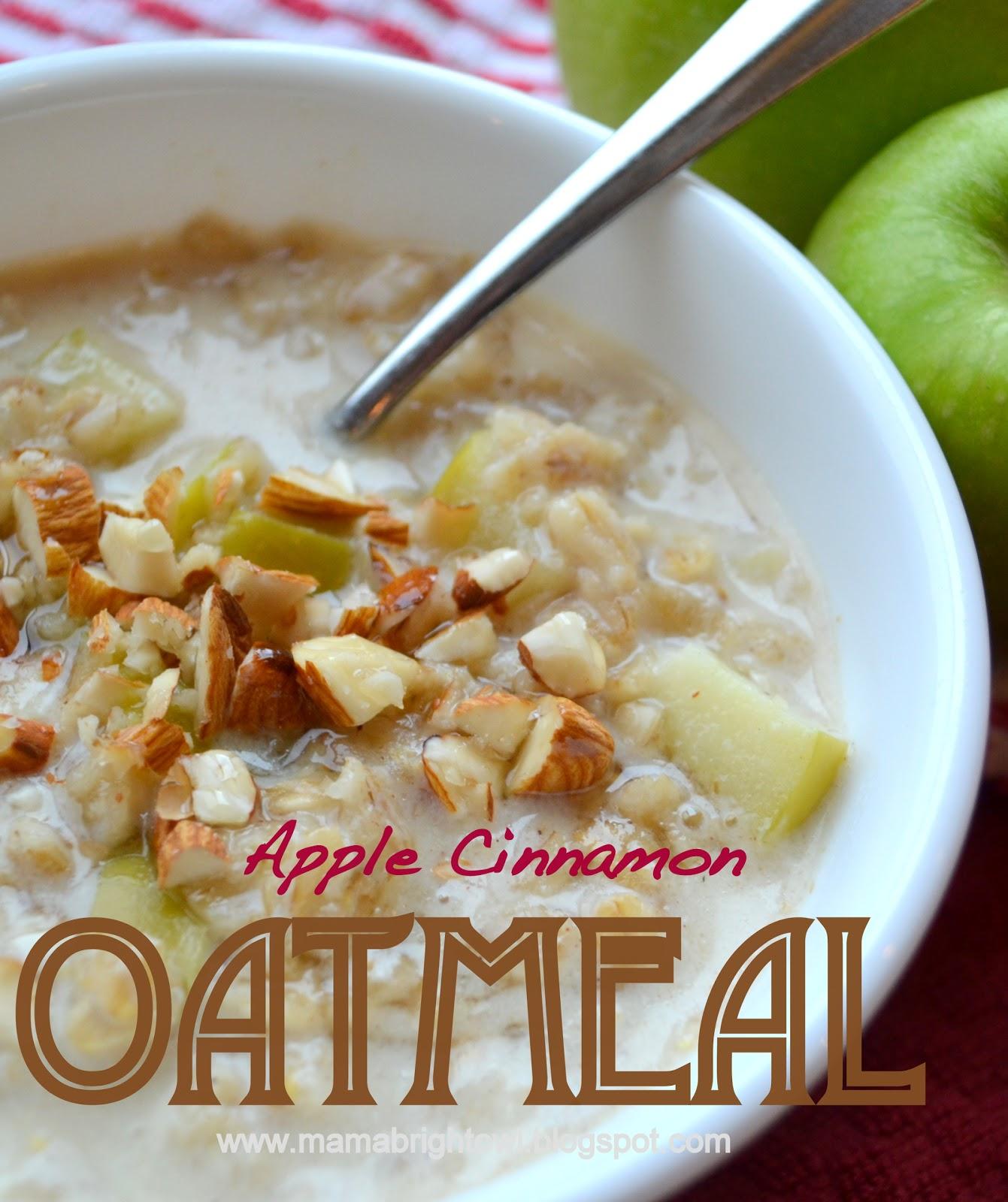 Mama Brightowl: Homemade Apple-Cinnamon Oatmeal