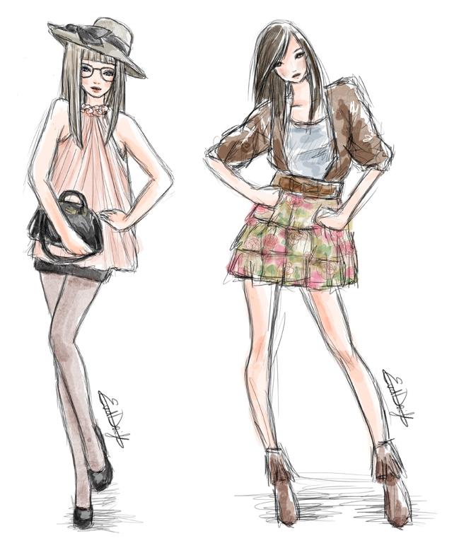 Menina Estilosa Looks ilustrados!