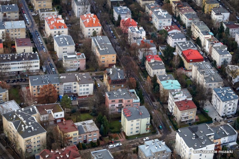 Saska Kępa Warszawa miasto z lotu ptaka panorama miasta stolica