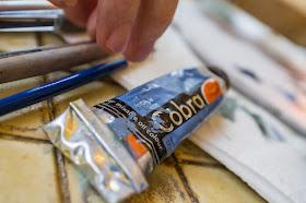 """Je travaille avec la peinture à l'huile miscible à l'eau """"Cobra"""" de Talens"""