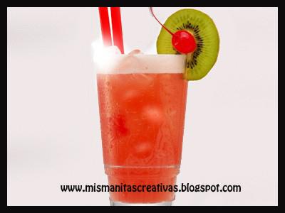 Receta como hacer c ctel de frutas ex ticas sin alcohol mis manitas creativas - Como hacer coctel de frutas ...