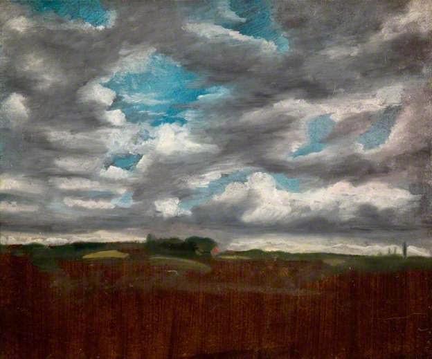John Constable - paysage avec nuages,1820-1822.