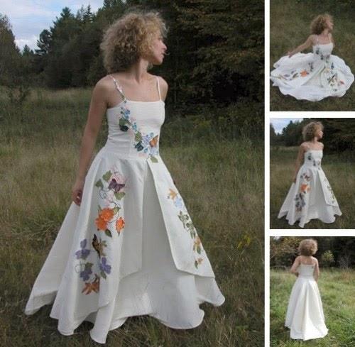 Vestidos de Novia con Flores de Colores, parte 2
