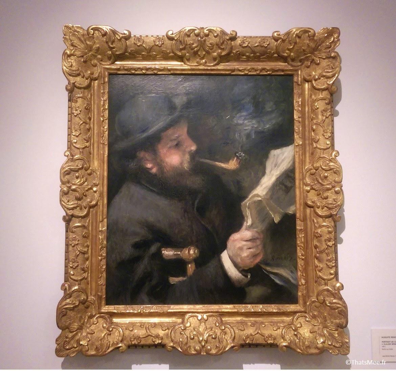 Claude Monet Lisait Auguste Renoir portrait musée Marmottan Paris 16eme