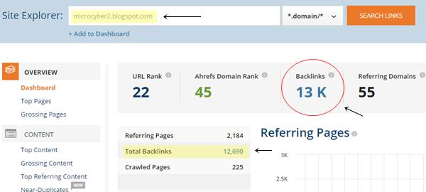 Cara Mudah Mengetahui Jumlah Backlink Pada Blog