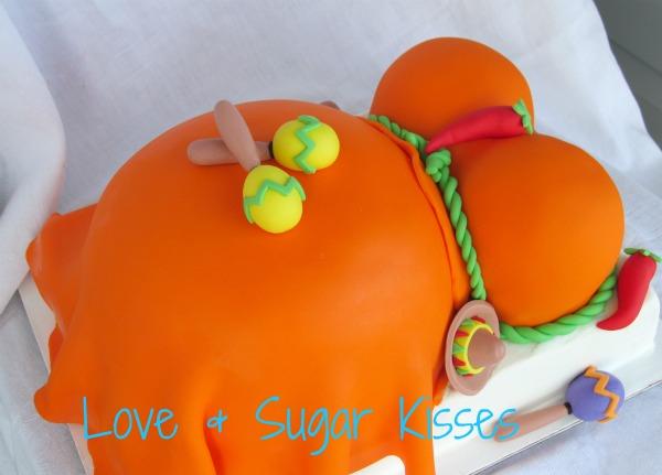 love sugar kisses fiesta baby shower cake