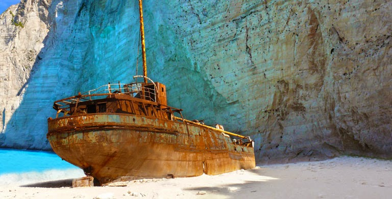 Navagio Beach Sunset Or Shipwreck Zante